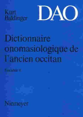 Dictionnaire onomasiologique de l'ancien occitan