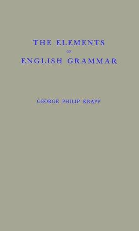Download The elements of English grammar.