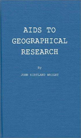 Aids to geographical research