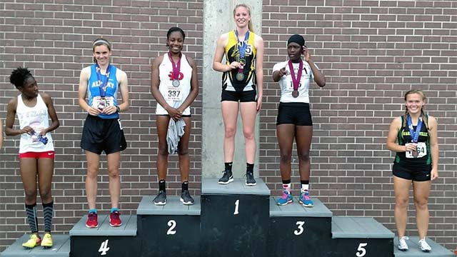South Seneca's Emily Lavarnway defends NYS pentathlon title… and then some