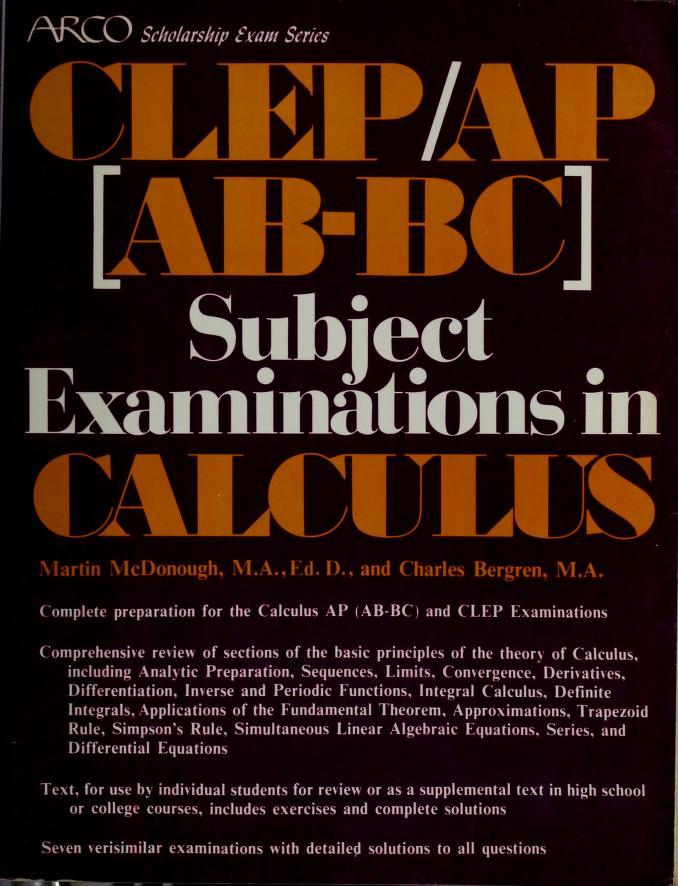 Calculus by Martin McDonough