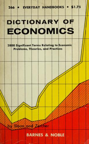 Cover of: A dictionary of economics | Harold S. Sloan