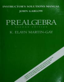 Cover of: Instructor's solutions manual | John Garlow