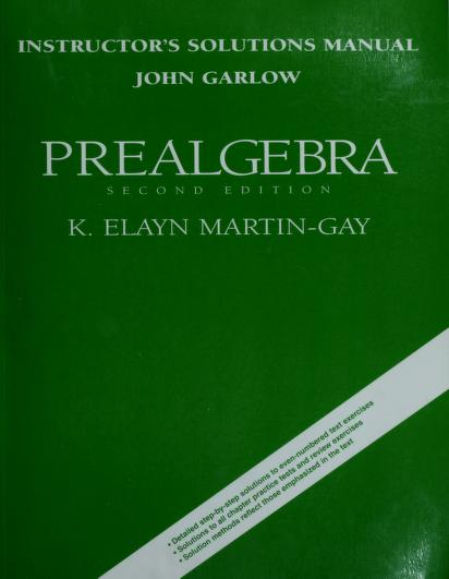 Instructor's solutions manual by John Garlow