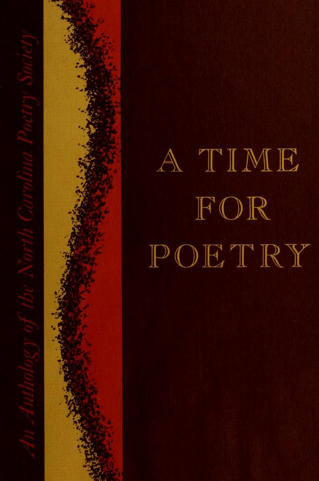 A time for poetry by North Carolina Poetry Society.
