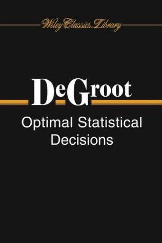 Optimal statistical decisions