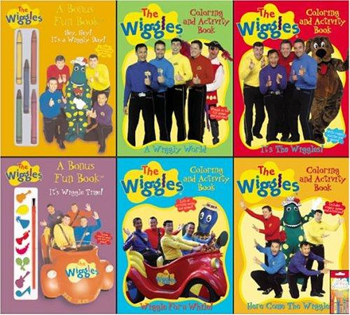 The Wiggles 6 Piece Activity Book Pack with Crayons by Modern Publishing