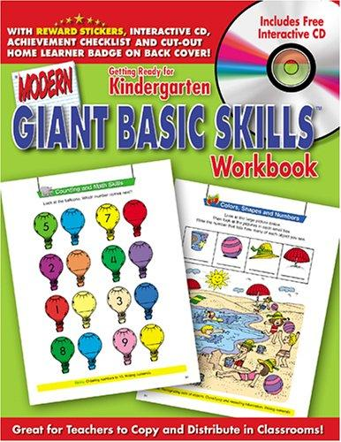 Getting Ready for Kindergarten Giant Basic Skills Workbooks with CD Rom (Giant Basic Skills Workbooks) by Modern Publishing