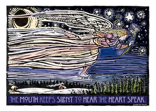 Skating Angel Notecards (Woodcut Christmas Cards) by Rick Allen