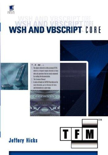 WSH and VBScript Core by Jeffery Hicks
