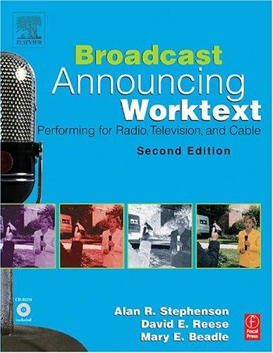 Broadcast announcing worktext by