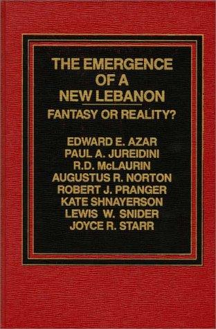 The Emergence of a New Lebanon