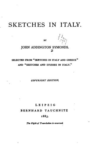 Sketches in Italy