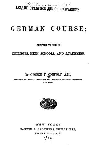 A German course by George F. Comfort