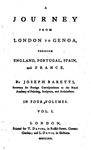 A journey from London to Genoa, through England, Portugal, Spain, and France