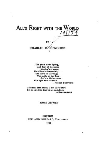 All's right with the world by Charles B. Newcomb