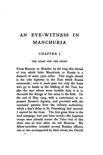 An eye-witness in Manchuria by [Leopold Guy Francis Maynard Greville] earl Brooke