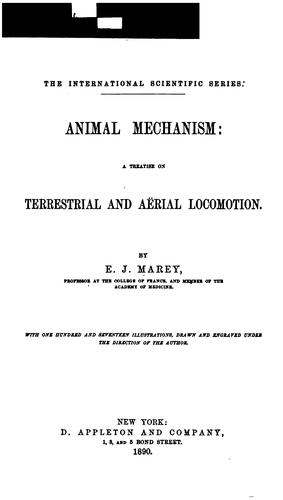 Animal mechanism by Étienne-Jules Marey