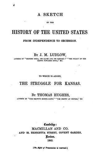 A sketch of the history of the United States from independence to secession.