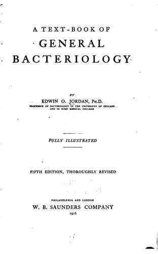 A text-book of general bacteriology