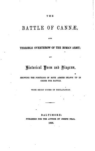 The battle of Cannæ by Henry Stump