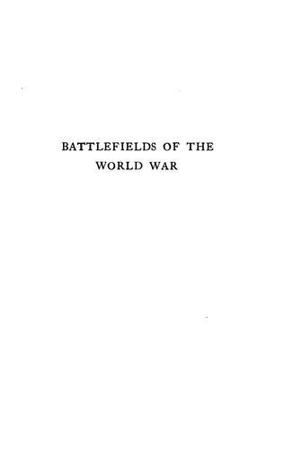 Battlefields of the World War, western and southern fronts by Johnson, Douglas Wilson