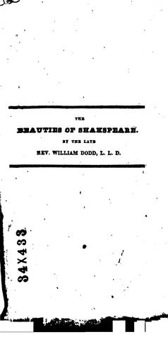The beauties of Shakspeare regularly selected from each play by William Shakespeare