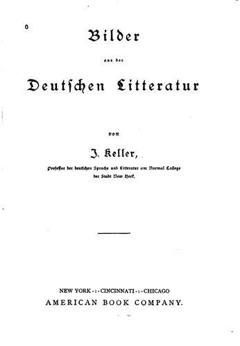 Bilder aus der Deutschen Litteratur