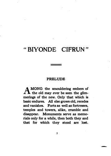 Biyonde cifrun (beyond zero) by George D. Buchanan