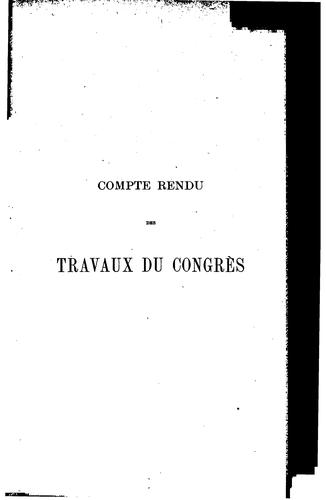 Compte rendu des travaux du congrès by International congress of navigation. 7th. Brussels, 1898