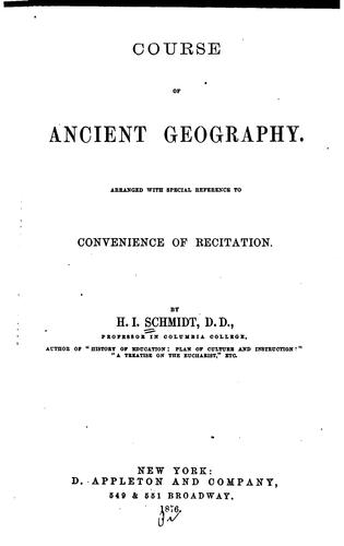 Course of ancient geography by Henry Immanuel Schmidt