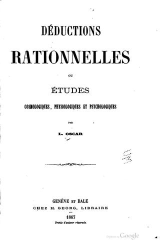 Déductions rationnelles by L. Oscar