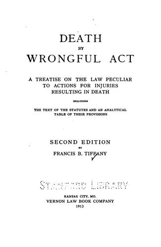 Death by wrongful act by Francis Buchanan Tiffany