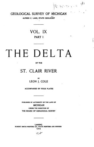 The delta of the St. Clair River by Leon Jacob Cole