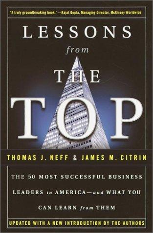 Lessons from the top by Thomas J. Neff