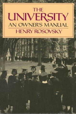 The University by Henry Rosovsky