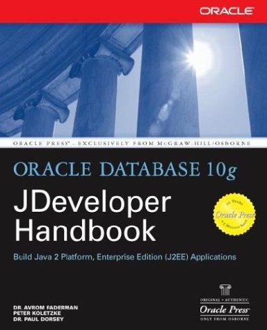 Oracle JDeveloper 10g handbook by Avrom Faderman