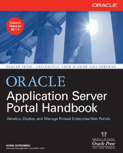 Oracle Application Server Portal Handbook by Chris Ostrowski