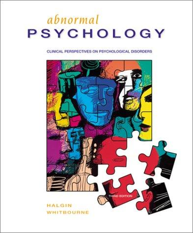 Abnormal Psychology by Richard P.; Whitbourne, Susan Krauss Halgin