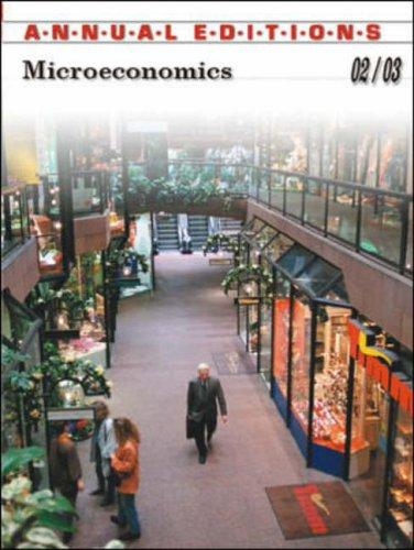 Annual Editions Microeconomics 2002-2003 by Don Cole