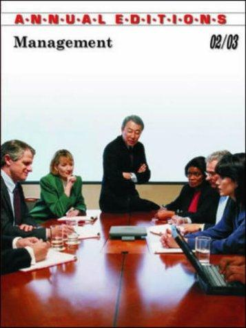 Management 02/03 (Management, 2002-2003) by Fred H. Maidment