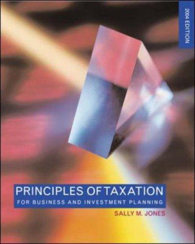 Principles of Taxation for Business & Investment Planning by Sally Jones