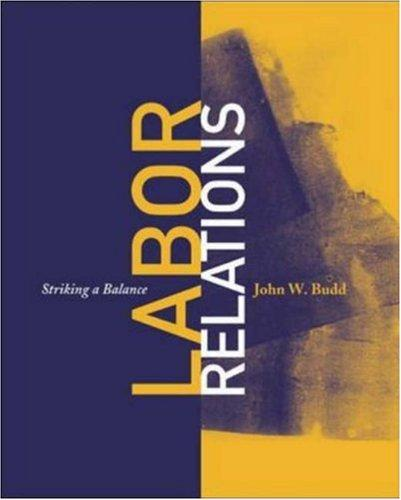 Labor Relations by John W. Budd