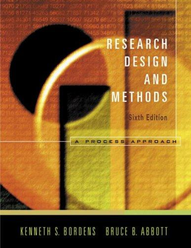 Research Design and Methods by Kenneth S. Bordens; Bruce Barrington Abbott