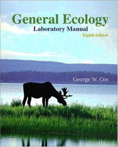 General Ecology Laboratory Manual by George W Cox