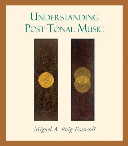 Understanding Post-Tonal Music by Miguel Roig-Francoli