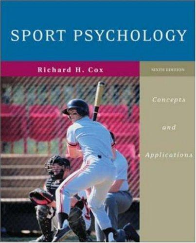 Sport Psychology by Richard H Cox