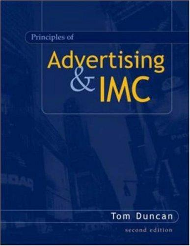 Principles of Advertising & IMC w/ AdSim CD-ROM by Tom Duncan