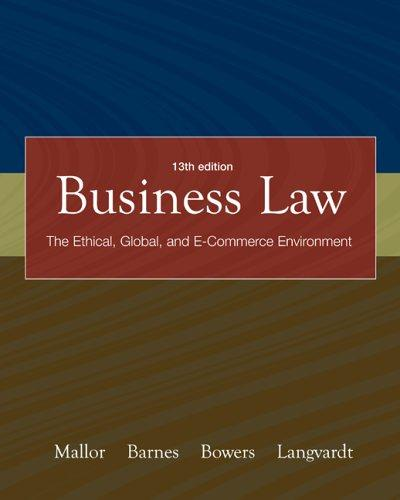 Business Law with OLC card and You Be The Judge DVD by Jane P. Mallor, A. James Barnes, L. Thomas Bowers, Arlen W. Langvardt