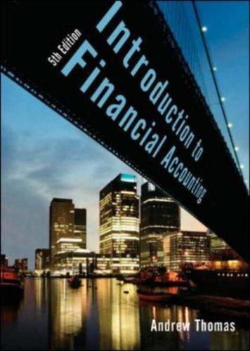 An Introduction to Financial Accounting